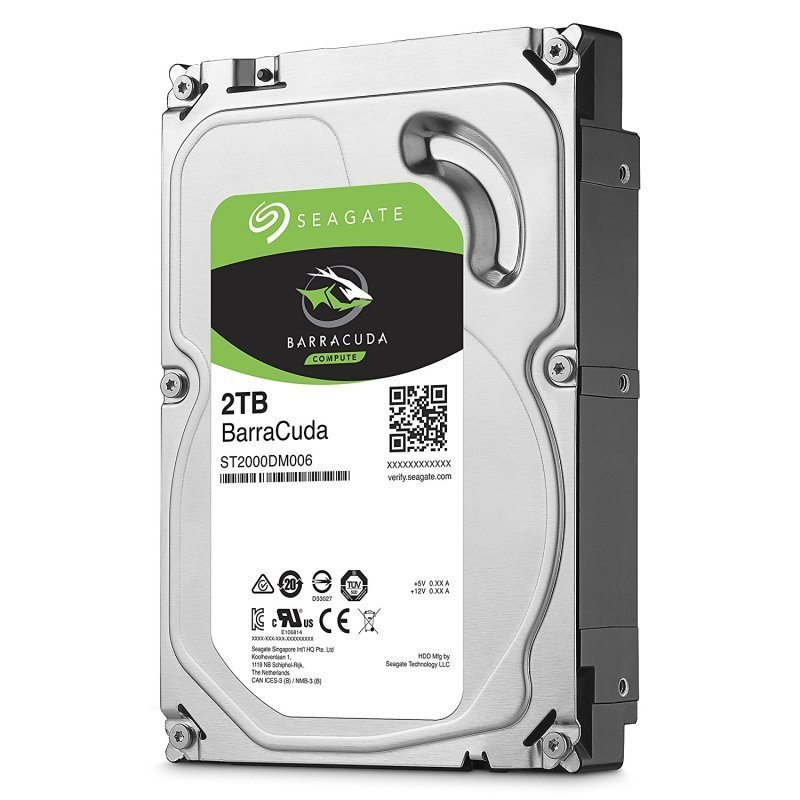 "Image of Seagate BarraCuda 2TB Desktop Hard Drive 3.5"" 5400RPM 256MB Cache"