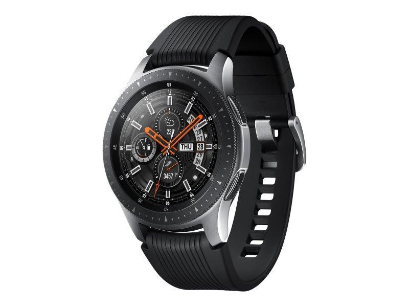 "Samsung Galaxy Smart Watch - 46mm - 1.3"" Screen - 4 GB - Wi-Fi, NFC, Bluetooth - Silver"