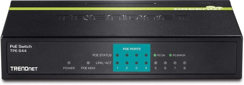 TRENDnet 8-port 10/100mbps POE Switch - 4 POE & 4 Non-POE