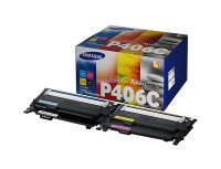 Samsung	CLT-P406C Multi-pack Black, Rainbow Original Toner Cartridge - Standard Yield 1500 Pages/1000 Pages - SU375A