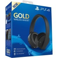 Sony PS4 Gold Wireless Stereo Black Headset