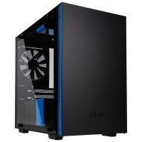 NZXT H200i Black/Blue Mini Tower Gaming PC Case