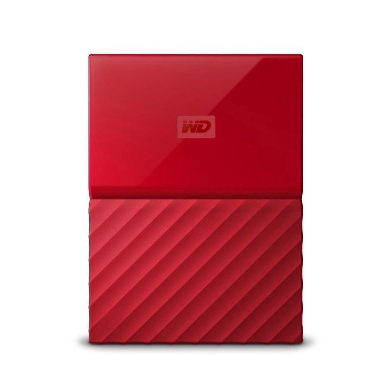 WD My Passport 2TB Portable Hard Drive - Red