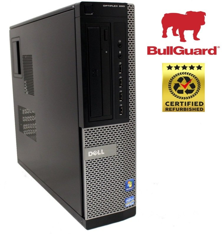 Image of REFURBISHED Dell Optiplex 990 SFF Desktop PC, Intel Core i7-2600 3.4GHz, 8GB RAM, 250GB HDD, Windows 10 Pro