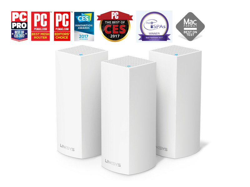 Linksys Velop Tri-Band Whole Home Mesh Wi-Fi Router - 3 Pack