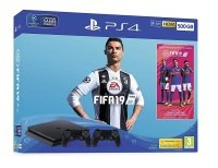 Sony 500GB Black PS4 with Fifa 19 + 2x Dualshock Controllers