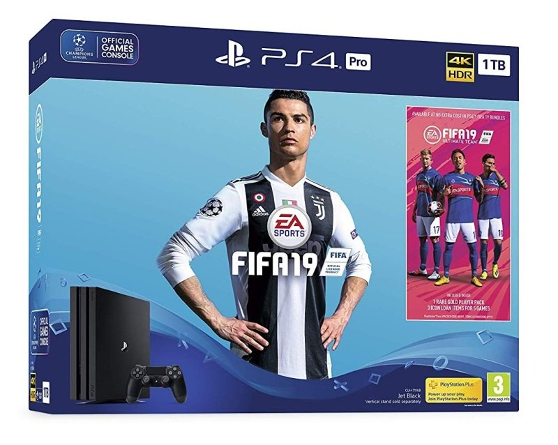 Sony 1TB Black PS4 Pro with Fifa 19