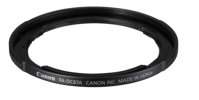 Canon 67mm filter adapter for PowerShot SX30 IS