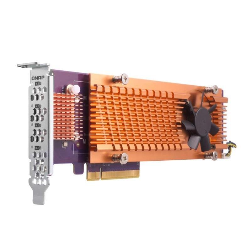 QNAP QM2-4P-384 Quad M.2 2280 PCIe SSD Expansion Card