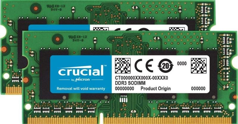Crucial 32GB Kit (2 x 16GB) DDR3L-1866 SODIMM Memory for Mac