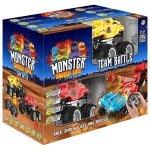 Toyrific TY6007 Monster Smash Ups Remote Control Race RC Trucks 2-in-1 Battle Bundle, Multi-Colour
