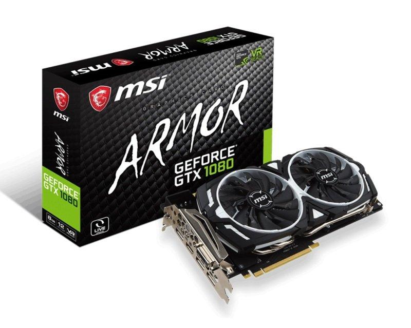 MSI GeForce GTX 1080 ARMOR 8G GDDR5X Graphics Card