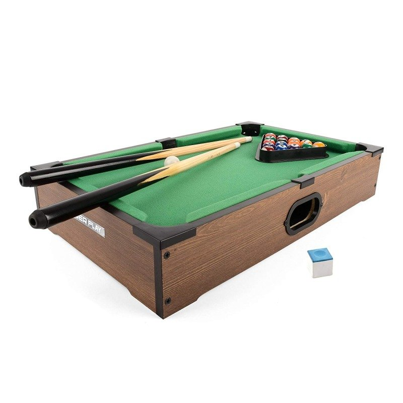 Power Play TY5894DB Table Top Pool Game, 20 Inch