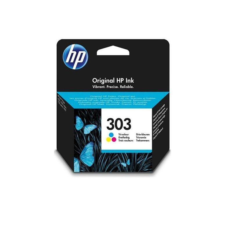HP 303 Tri-Colour OriginalInk Cartridge - Standard Yield 200 Pages - T6N01AE