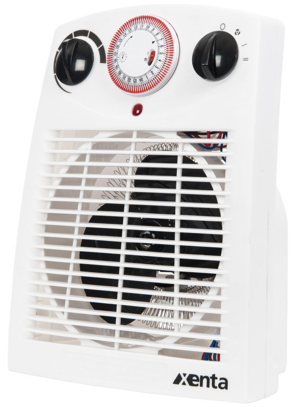 Freestanding 2000W Fan Heater with Safety Tip Over Switch & 24 Hour Timer