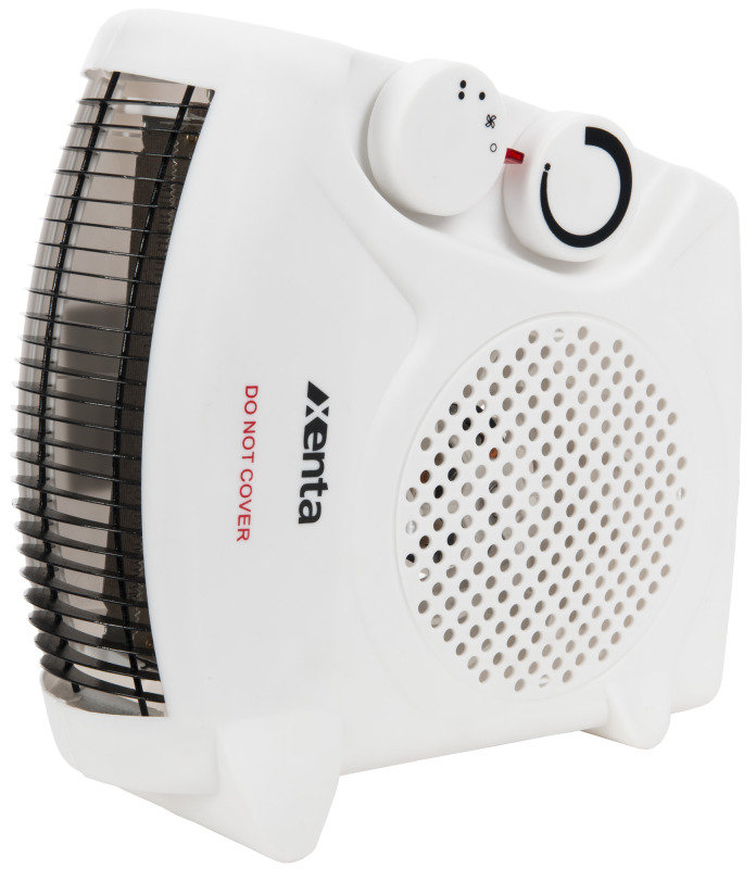Xenta Fan Heater, 2 Heat Settings, 2000 W with Adjustable room thermostat - White