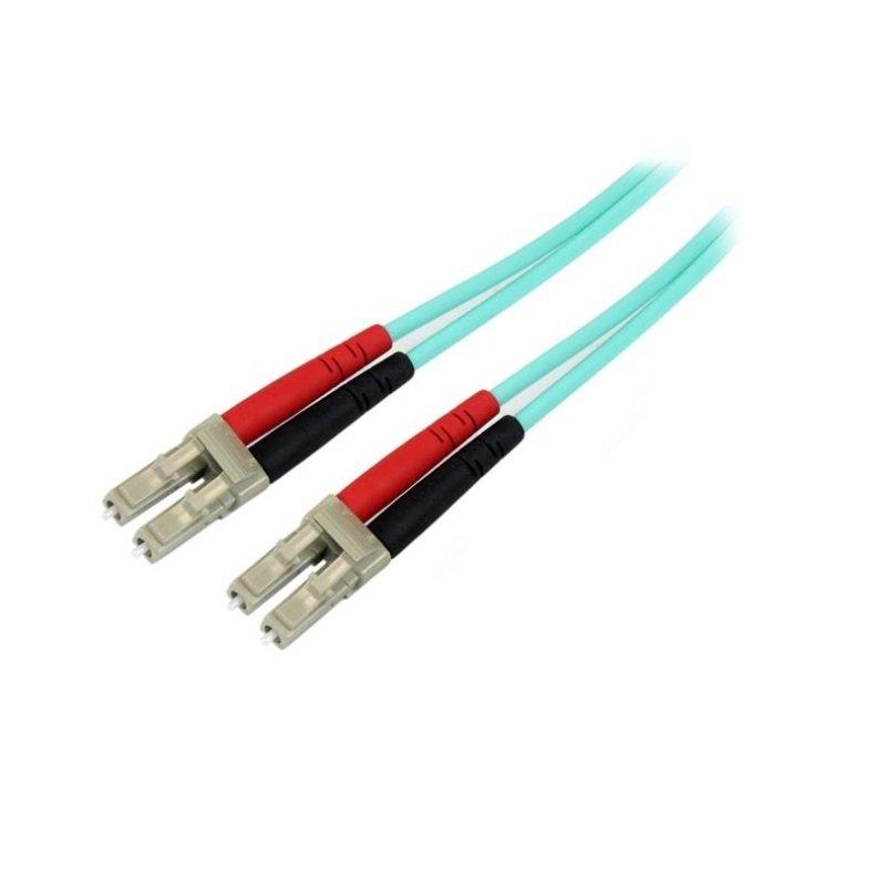 StarTech.com Aqua OM4 Duplex Multimode Fiber Optic Cable 2M