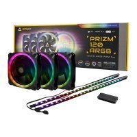 Antec Prizm 120mm Addressable RGB Case Fans and LED Strips - Triple Pack