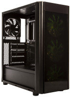 EXDISPLAY Element Gaming Wider X3 Gaming ATX Case with 3 LED Fans