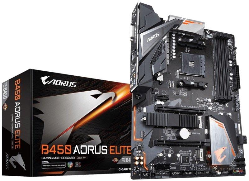 Image of Gigabyte B450 AORUS ELITE AM4 Socket DDR4 ATX Motherboard