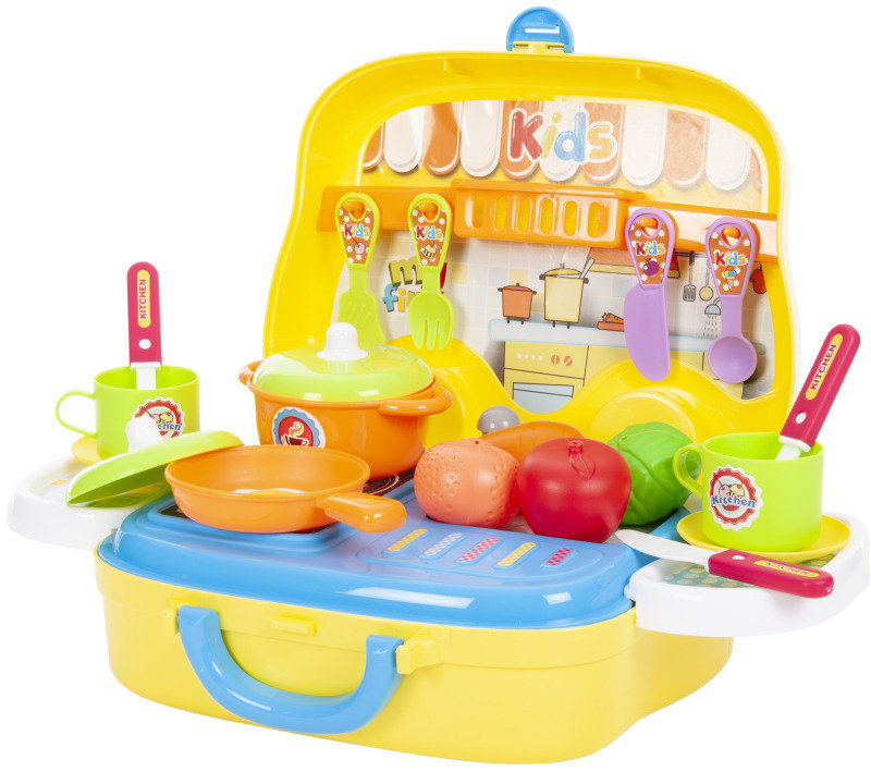 Kitchen Play Set-26 Pieces with Self Adhesive Stickers