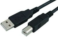 Xenta USB 2.0 A-B Device Cable (Black) 1m