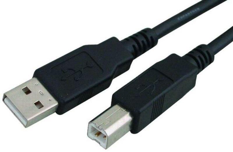 Xenta USB 2.0 A-B Device Cable (Black) 1m
