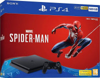 Sony 500GB Black PS4 with Marvel's Spiderman