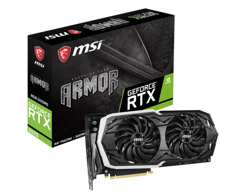 MSI GeForce RTX 2070 ARMOR 8GB Graphics Card