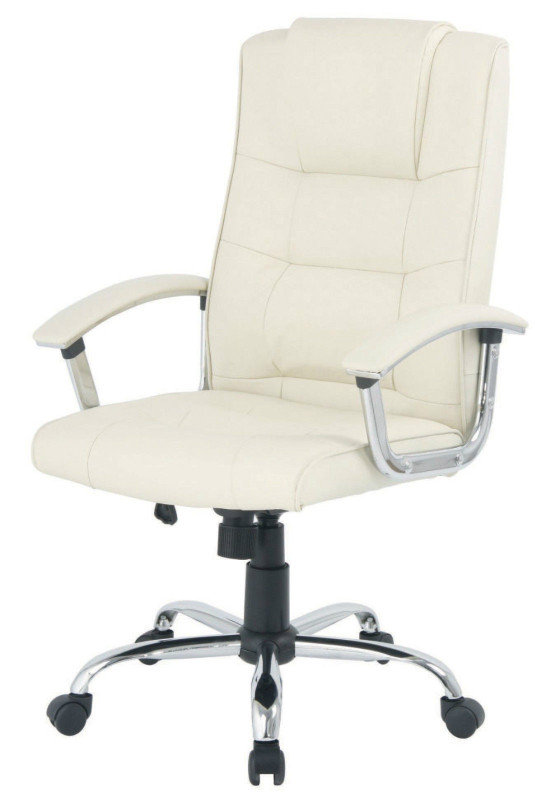 HH Solutions Cream Winchester Executive Leather Chair