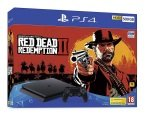 Sony 500GB Black PS4 with Red Dead Redemption 2