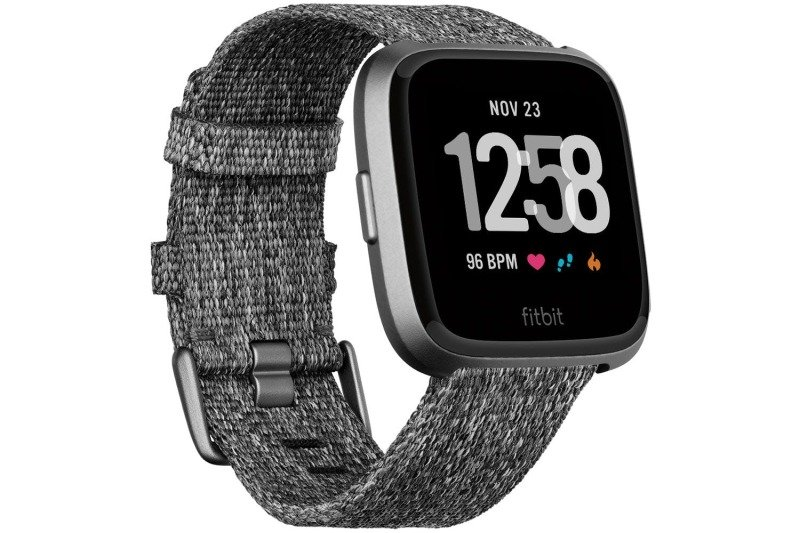 Fitbit Versa Special Edition Smart Watch - Woven Charcoal Strap