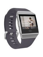 Fitbit Ionic GPS Smart Watch, Silver with Blue-Grey Strap