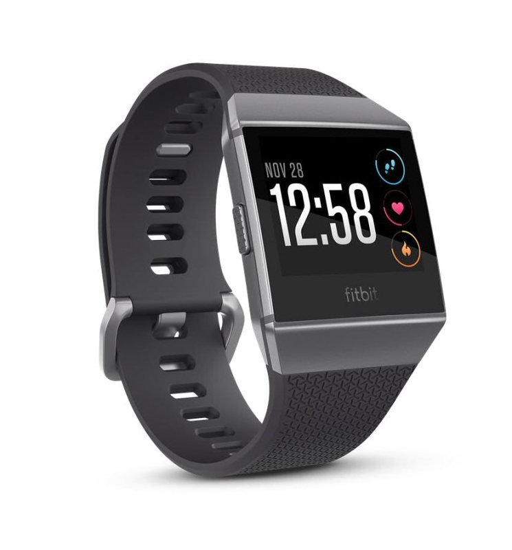 Fitbit Ionic GPS Smart Watch, Smoke Grey with Charcoal Strap
