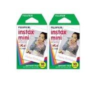 Fujifilm Instax Mini Credit Card Size Glossy Photo Film 10 Pack X 2