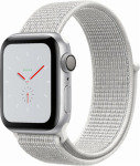 Apple Watch Nike+ Series 4 (GPS), 40mm Silver Aluminium Case with Summit White Nike Sport Loop