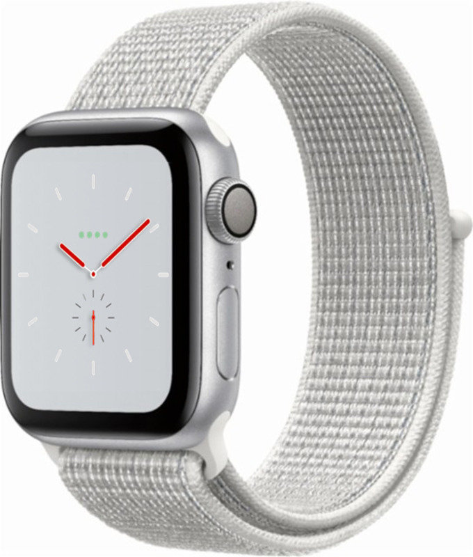 Apple Watch Nike+ Series 4 (GPS), 40mm Silver Aluminium Case with Summit White Nike Sport Loop cheapest retail price