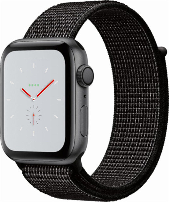 Apple Watch Nike+ Series 4 GPS, 44mm Space Grey Aluminium Case with Black Nike Sport Loop cheapest retail price