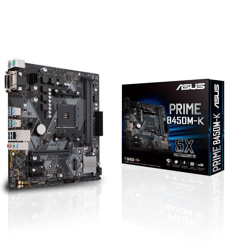 EXDISPLAY Asus PRIME B450M-K AM4 DDR4 mATX Motherboard