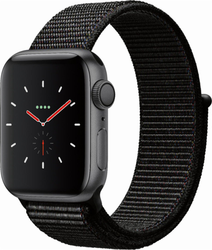 Apple Watch Series 4 GPS, 40mm Space Grey Aluminium Case with Black Sport Loop cheapest retail price