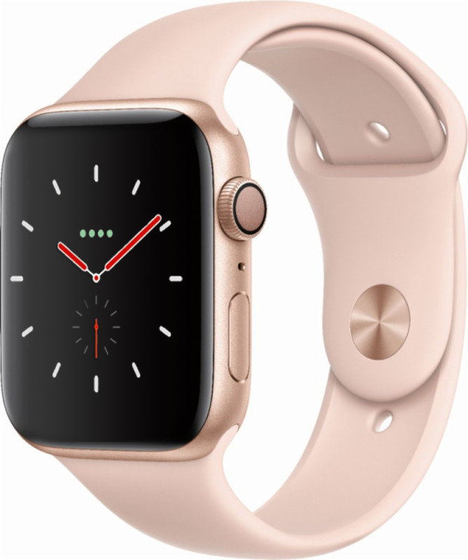 Apple Watch Series 4 GPS, 44mm Gold Aluminium Case with Pink Sand Sport Band cheapest retail price