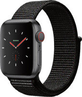 Apple Watch Series 4 GPS + Cellular, 40mm Space Grey Aluminium Case with Black Sport Loop