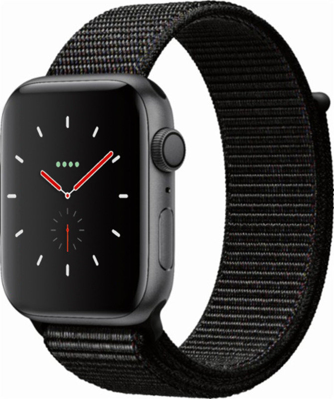 Apple Watch Series 4 GPS, 44mm Space Grey Aluminium Case with Black Sport Loop cheapest retail price