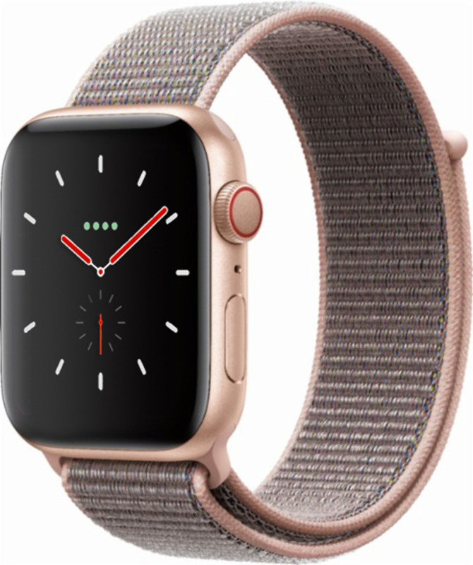 Apple Watch Series 4 GPS + Cellular, 44mm Gold Aluminium Case with Pink Sand Sport Loop cheapest retail price