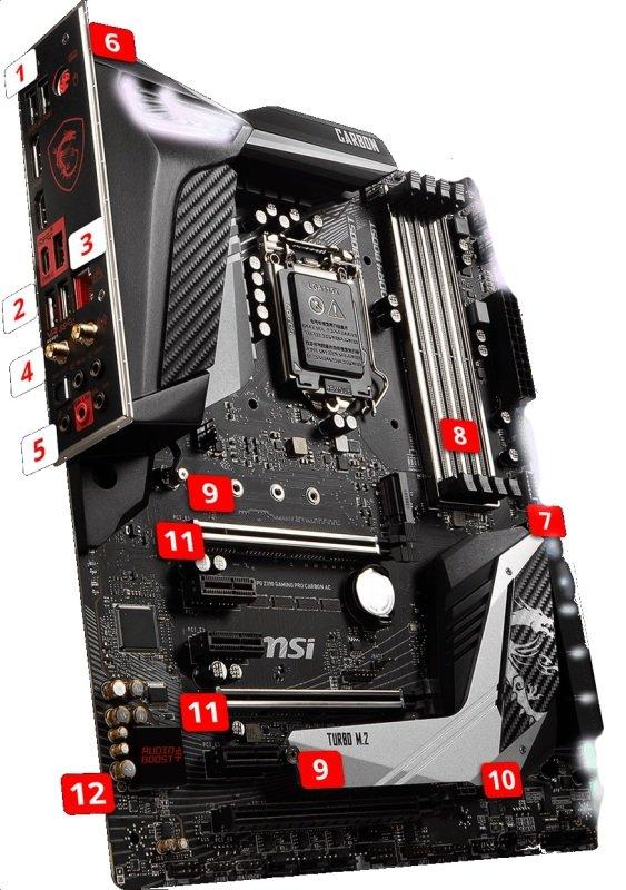 MSI MPG Z390 GAMING PRO CARBON AC LGA 1151 DDR4 Motherboard