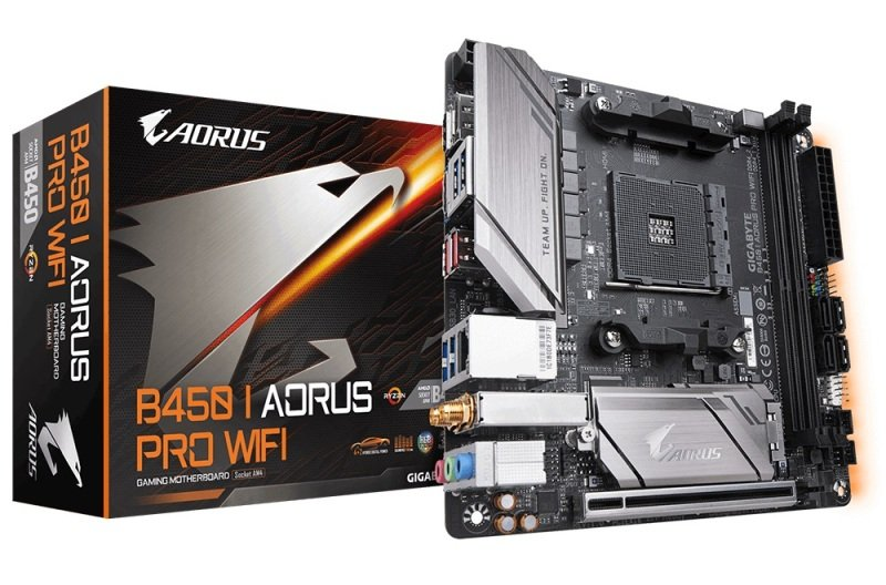 Image of Gigabyte B450 I AORUS PRO WIFI AM4 Socket DDR4 mITX Motherboard