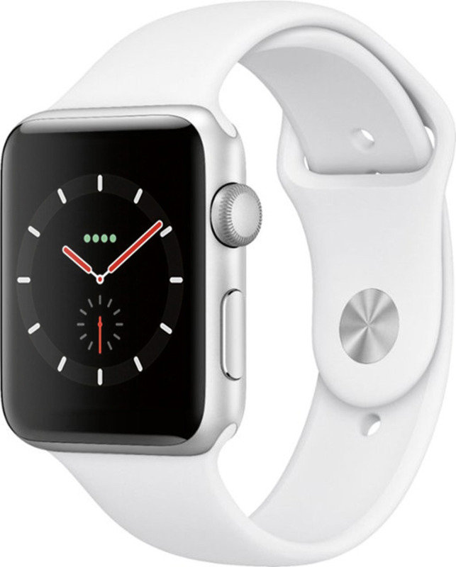 Apple Watch Series 3 GPS, 38mm Silver Aluminium Case with White Sport Band cheapest retail price