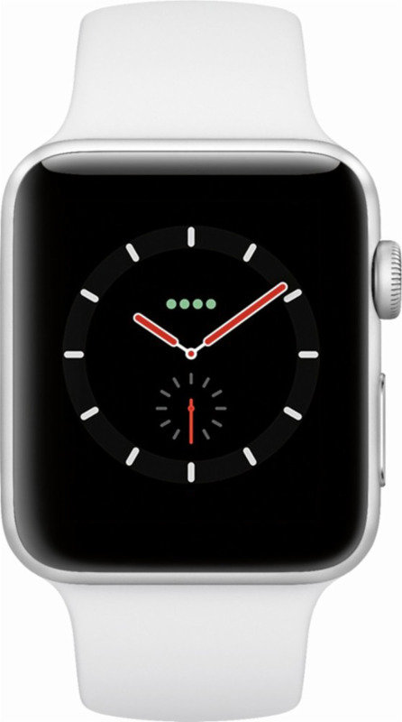 on sale 183b7 6dc92 Apple Watch Series 3 GPS, 38mm Silver Aluminium Case with White Sport Band
