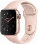 Apple Watch Series 4 GPS + Cellular, 44mm Gold Aluminium Case with Pink Sand Sport Band