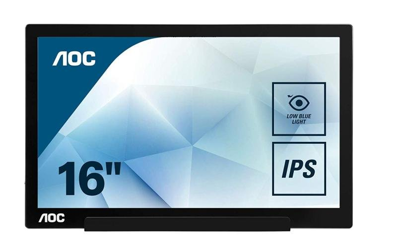 "AOC I1601FWUX 15.6"" IPS LED Monitor USB C Powered Full HD"